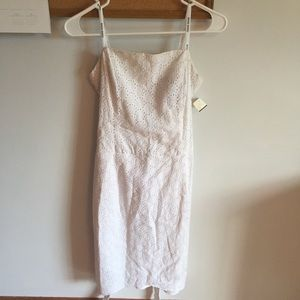 NWT White strapless wrap dress